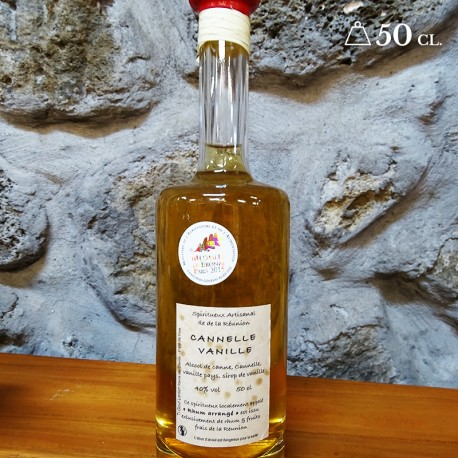 Rhum cannelle vanille 50cl